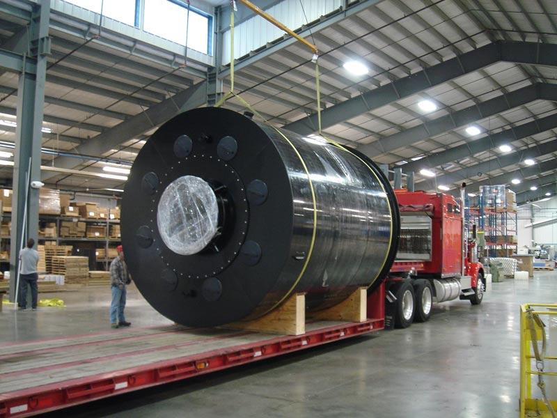 large plastic cylinder tank