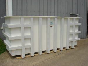 fabricated plastic compressor tank