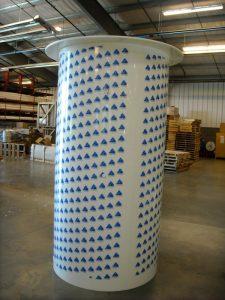 cylindrical plastic tank
